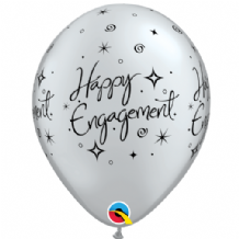 Engagement Elegant Sparkles 6pc - 11 Inch Balloons